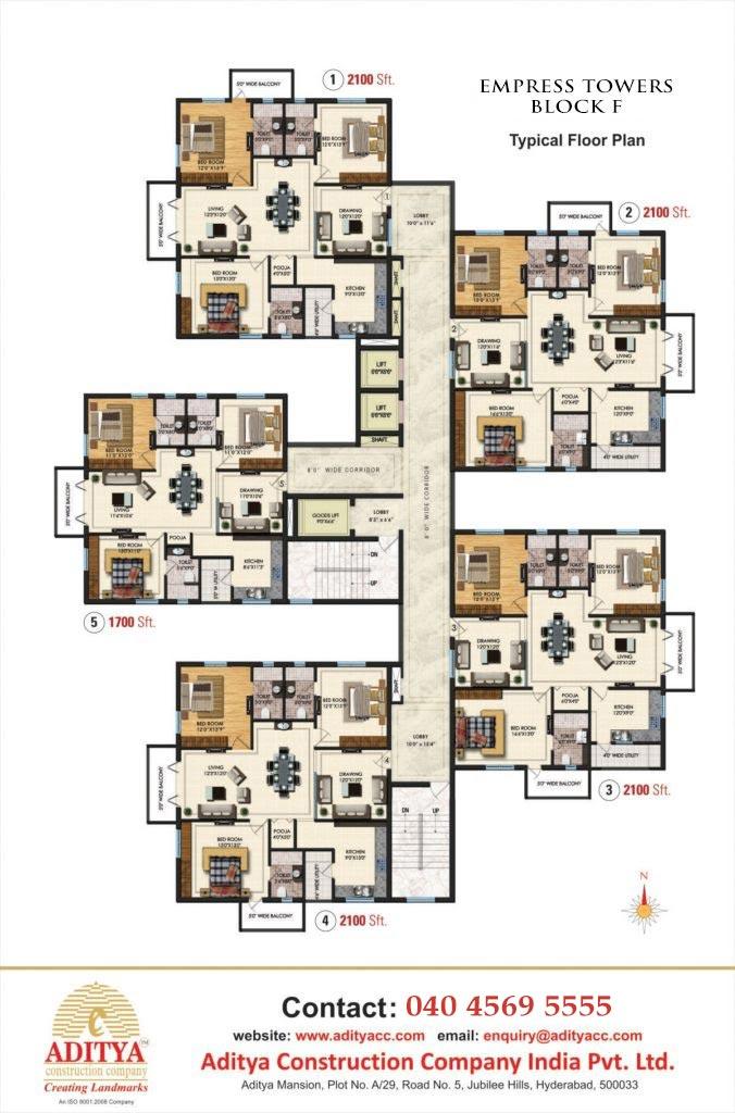 Empress Towers Block F Luxury Apartments In Hyderabad Aditya Constructions